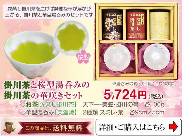 誕生日プレゼントにお茶(掛川茶)と急須の華咲きセット
